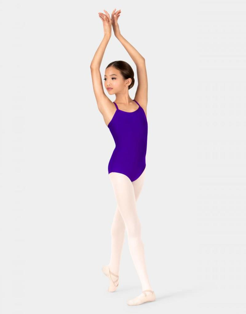 Motionwear Camisole Leotard with V-Back Straps in Silkskyn