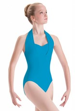 Motionwear Overlay Halter Leotard with Pinch Front