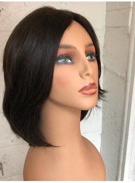 """9"""" Straight Brunette Famous Maker European Wig 1212"""
