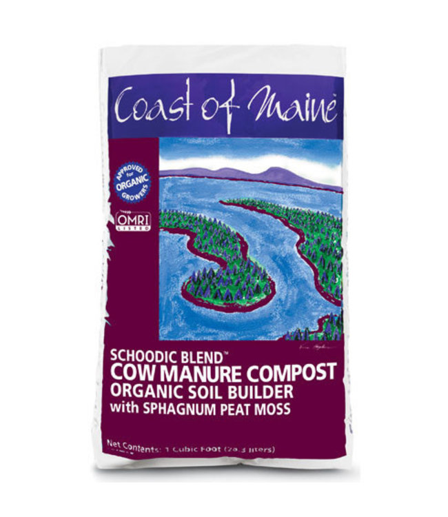 Schoodic Blend Cow Manure Compost 1 cuft