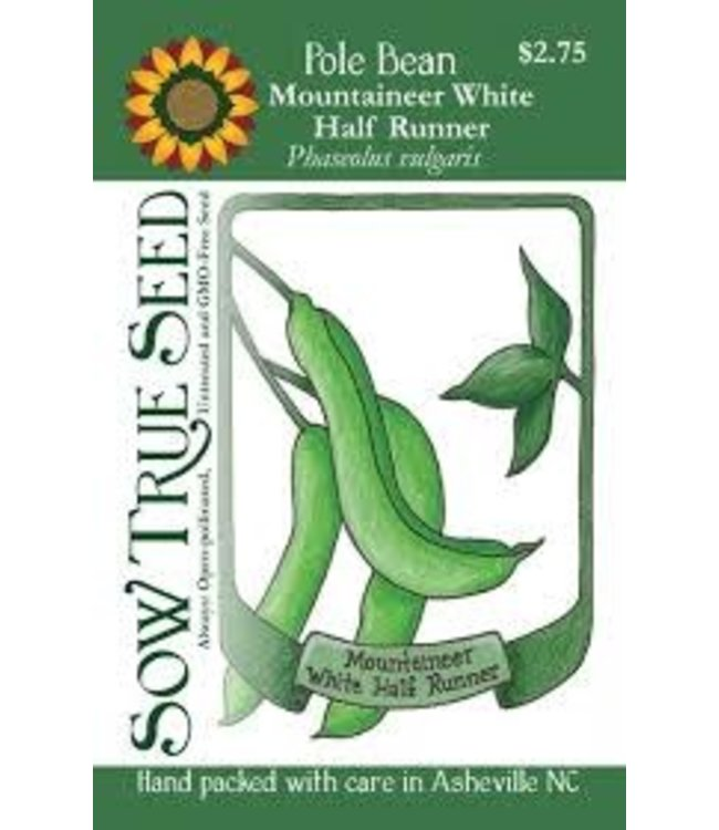 Sow True Seed Runner Bean - Mountaineer White