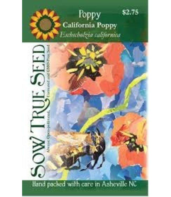 Sow True Seed Poppy - California Poppy