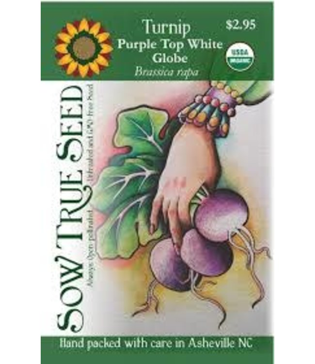 Sow True Seed Turnip- Purple Top White Globe