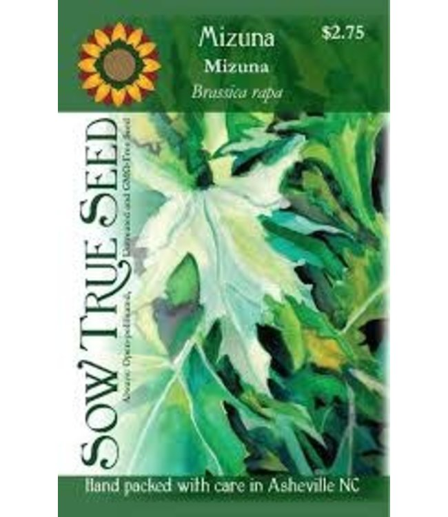 Sow True Seed Asian Greens -  Mizuna Organic
