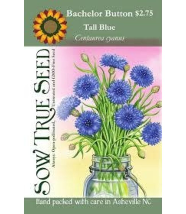 Sow True Seed Bachelor Button - Tall Blue