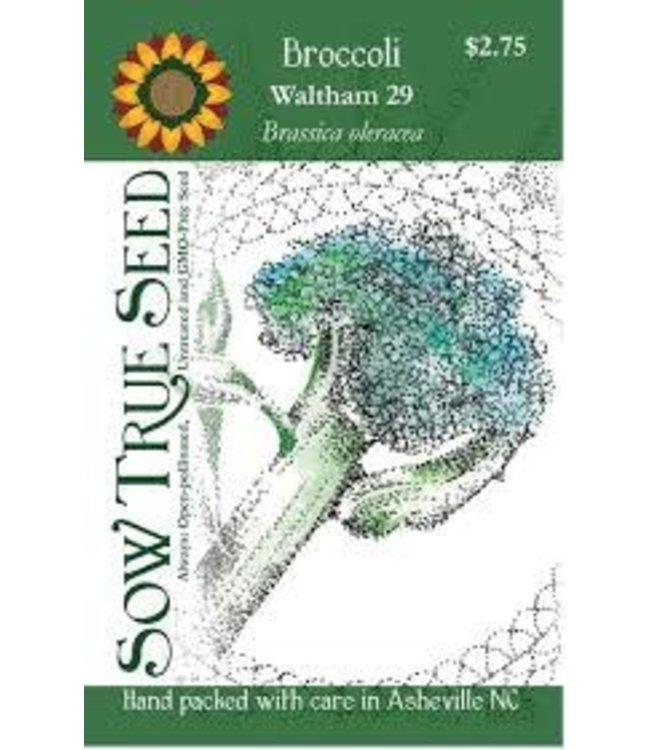 Sow True Seed Broccoli - Waltham 29