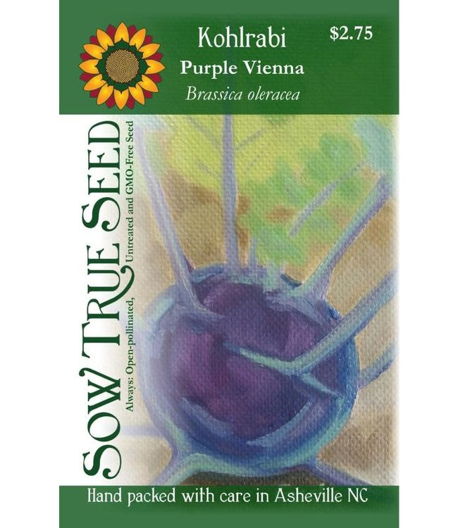 Sow True Seed Kohlrabi - Purple Vienna