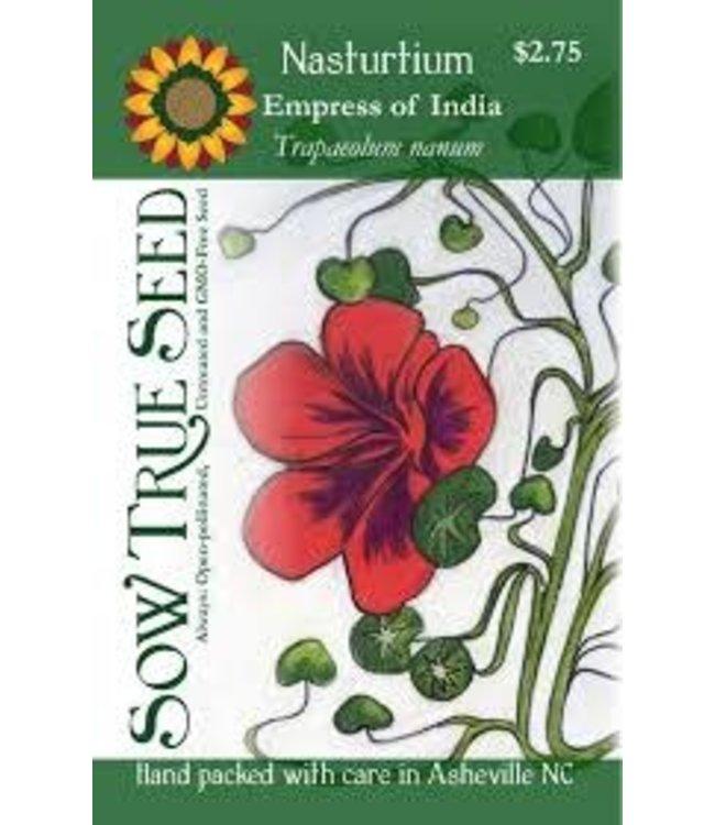 Sow True Seed Nasturtium - Empress of India