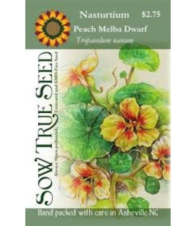 Sow True Seed Nasturtium - Peach Melba Dwarf