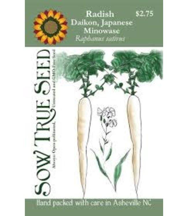 Sow True Seed Radish - Japanese Daikon Minowase