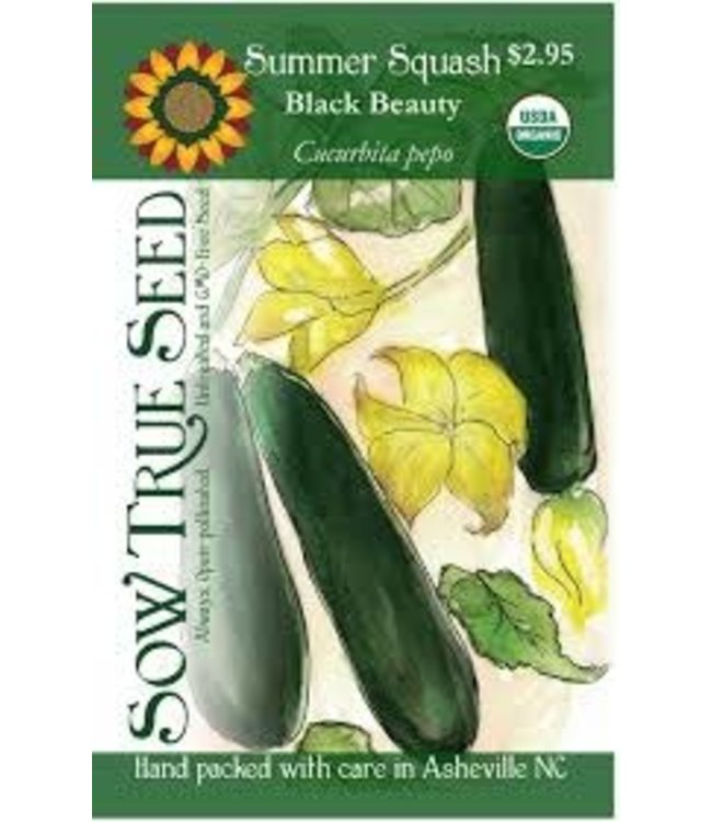 Sow True Seed Summer Squash - Black Beauty