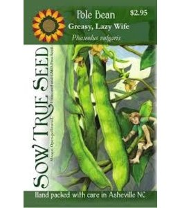 Sow True Seed Pole Bean - Lazy Wife Greasy