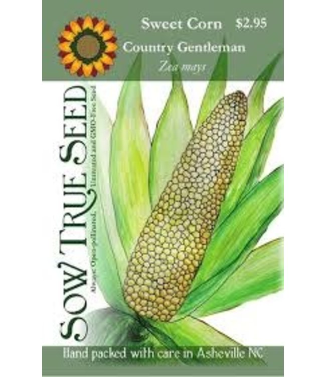 Sow True Seed Sweet Corn - Country Gentleman