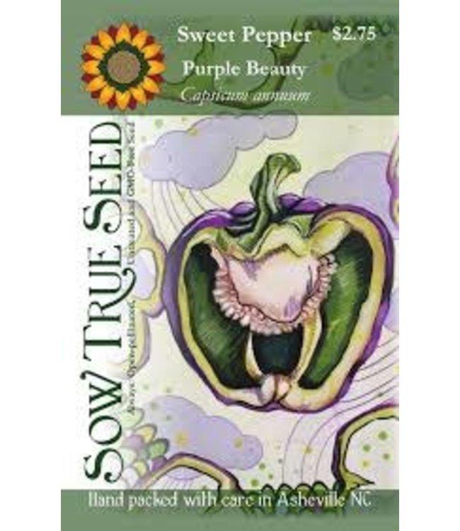 Sow True Seed Pepper - Purple Beauty