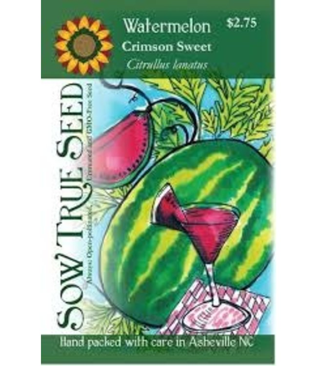 Sow True Seed Watermelon - Crimson Sweet