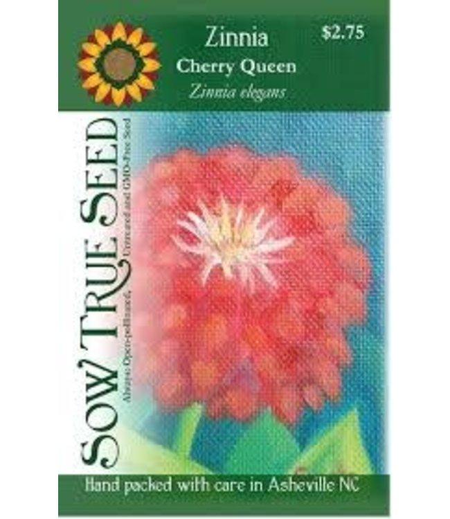 Sow True Seed Zinnia - Cherry Queen