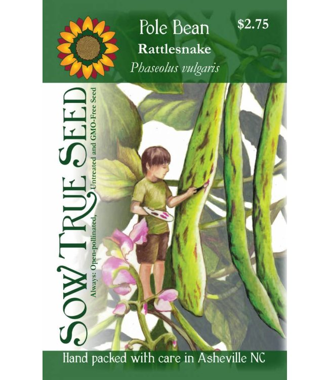 Sow True Seed Pole Bean - Rattlesnake