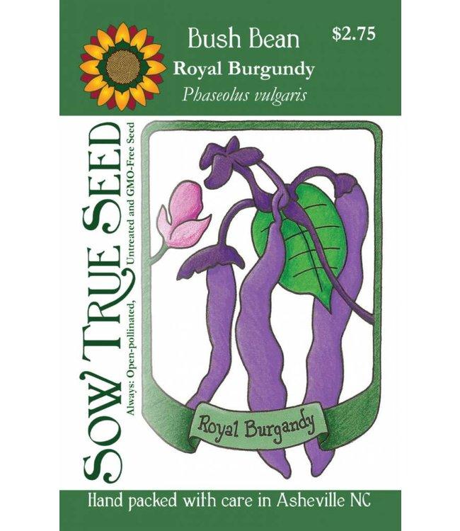 Sow True Seed Bush Bean - Royal Burgundy
