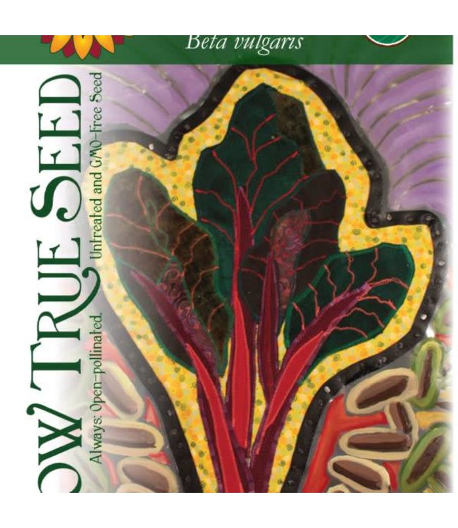 Sow True Seed Swiss Chard - Ruby Red
