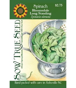 Sow True Seed Spinach - Bloomsdale Long Standing