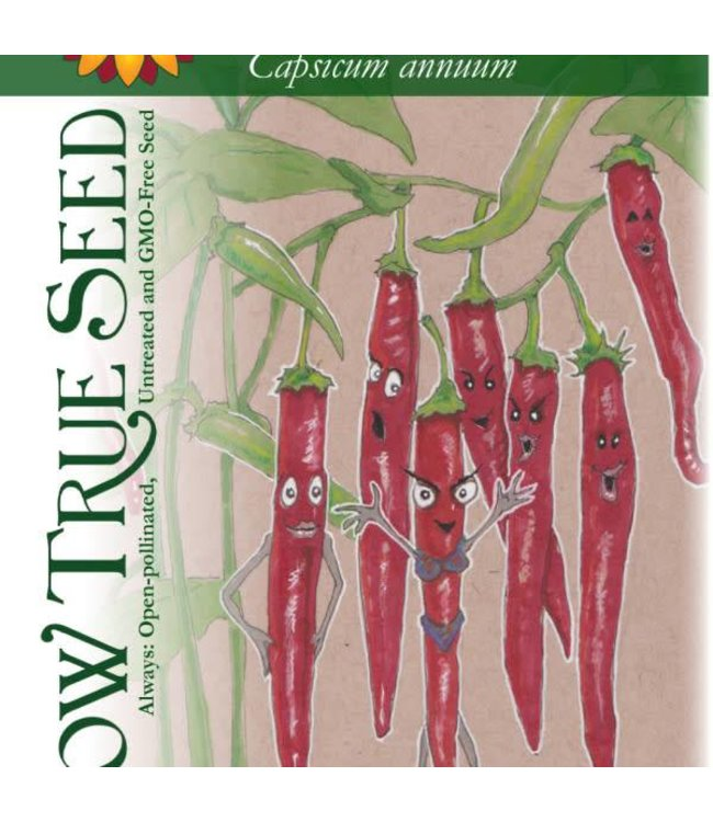 Sow True Seed Hot Pepper - Cayenne Long Red Thin