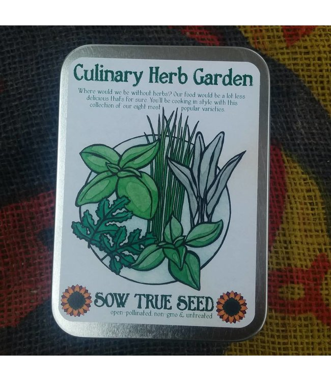 Sow True Seed Tin - Culinary Herb Garden