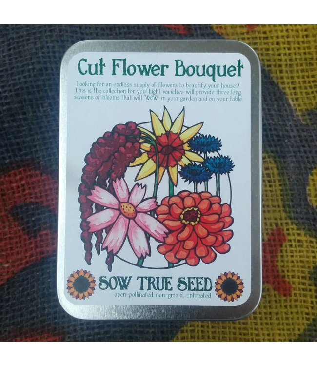 Sow True Seed Tin - Cut Flower Bouquet Garden