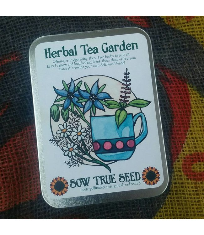 Sow True Seed Tin - Herbal Tea Garden