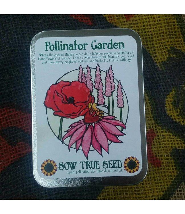 Sow True Seed Tin - Pollinator Garden