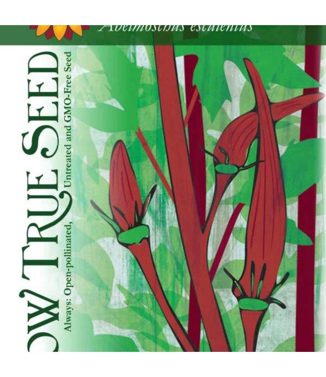 Sow True Seed Okra - Red Burgundy
