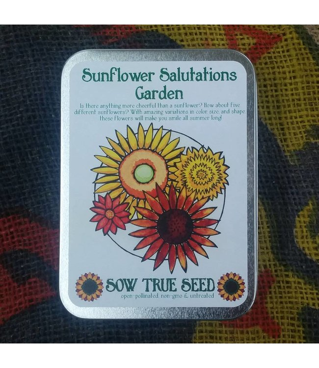 Sow True Seed Tin - Sunflower Salutation Garden