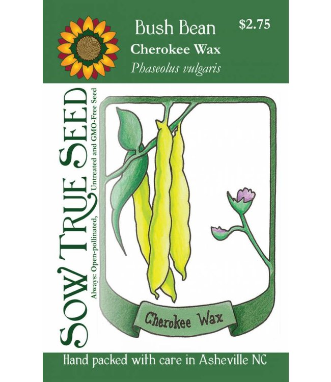 Sow True Seed Bush Bean - Cherokee Wax