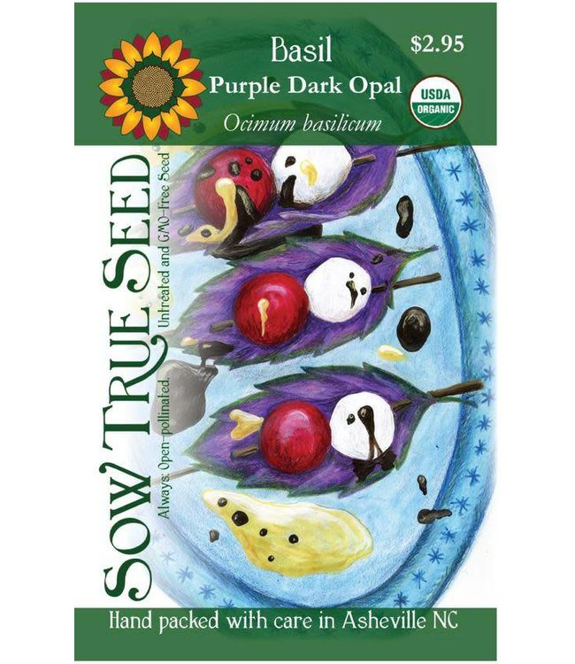 Sow True Seed Basil - Purple Dark Opal Organic