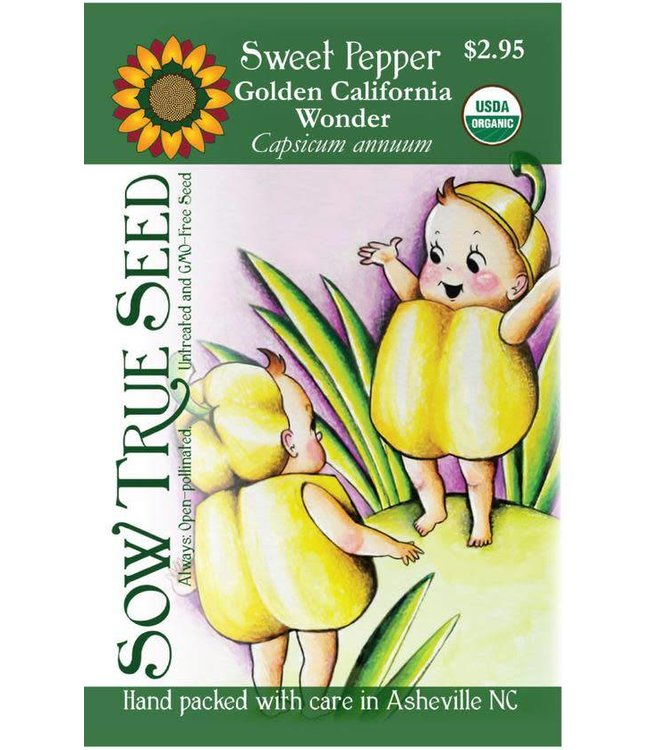 Sow True Seed Pepper - Golden California Wonder