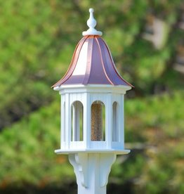 Premium Bird Feeder Copper Roof 14""
