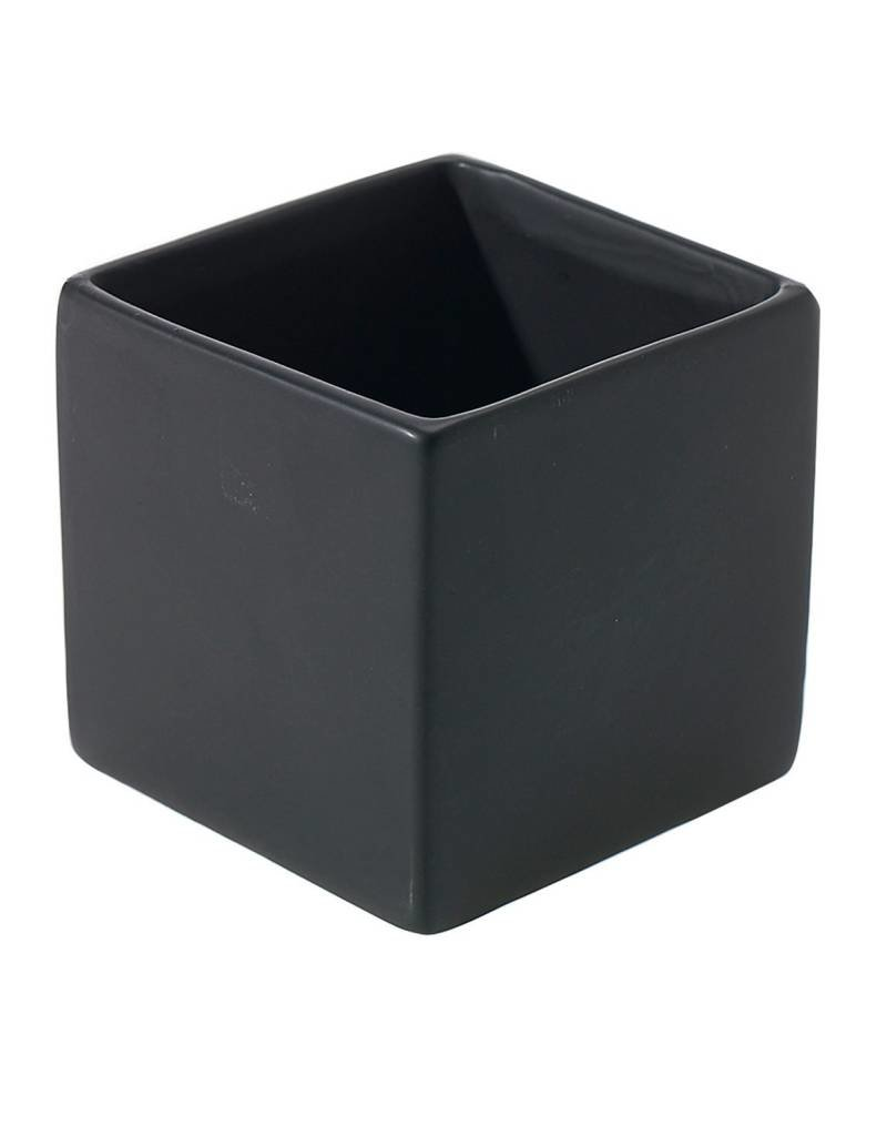 "Accent Decor 3.25"" Urban Square - Matte Black"