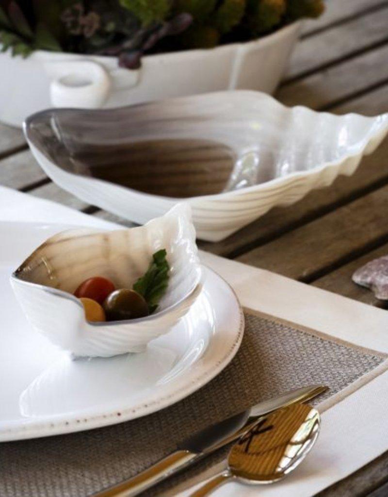 Sabbia Glass Medium Conch Shell Bowl