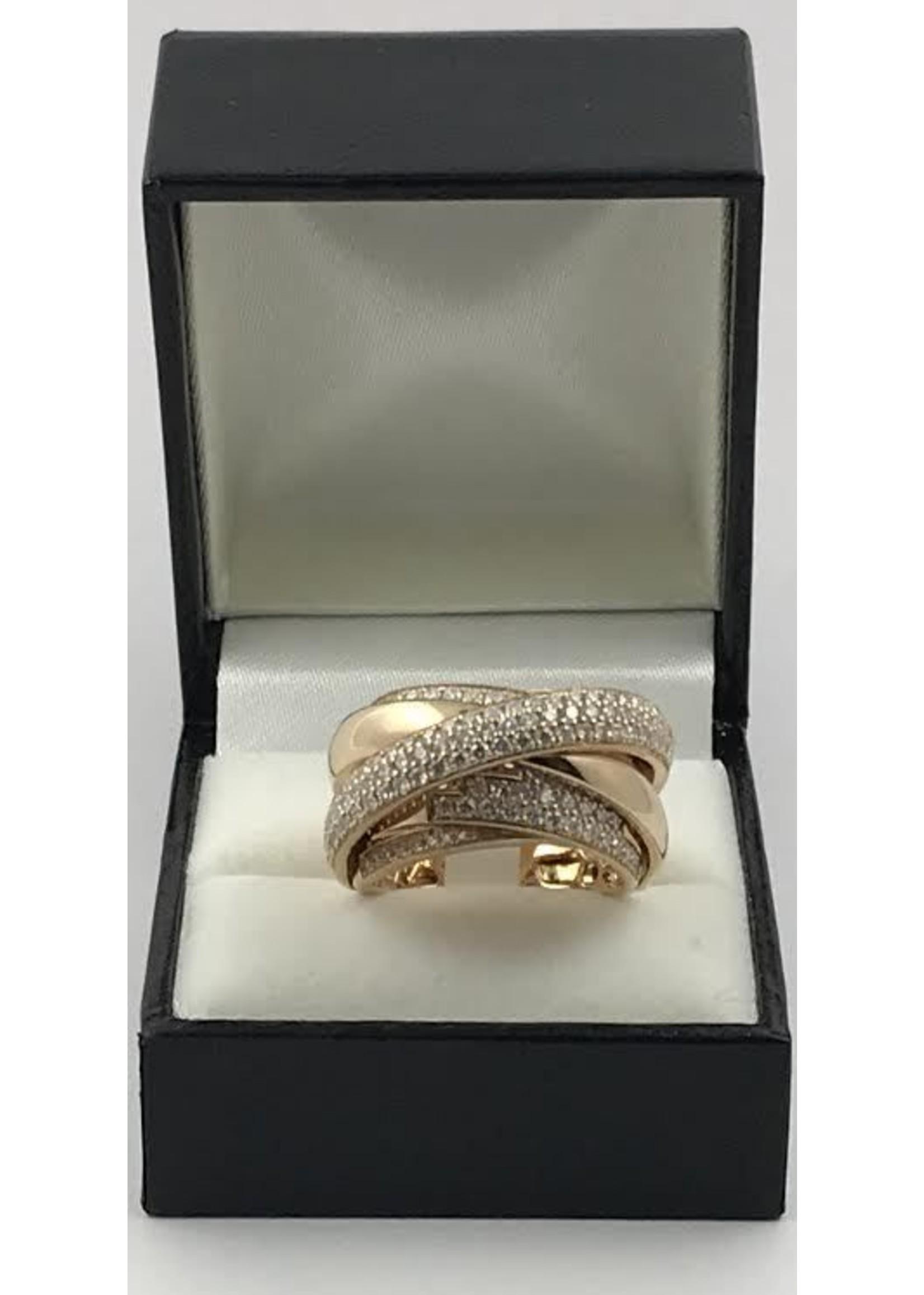 18K ROSE GOLD RING W 1.66CT DIAMONDS