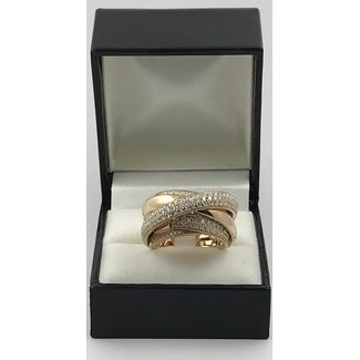 18K ROSE GOLD RING W 1.66CT DIAMONDS