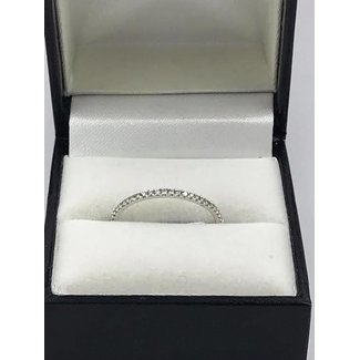 18K WHITE GOLD RING W 0.14CT DIAMONDS