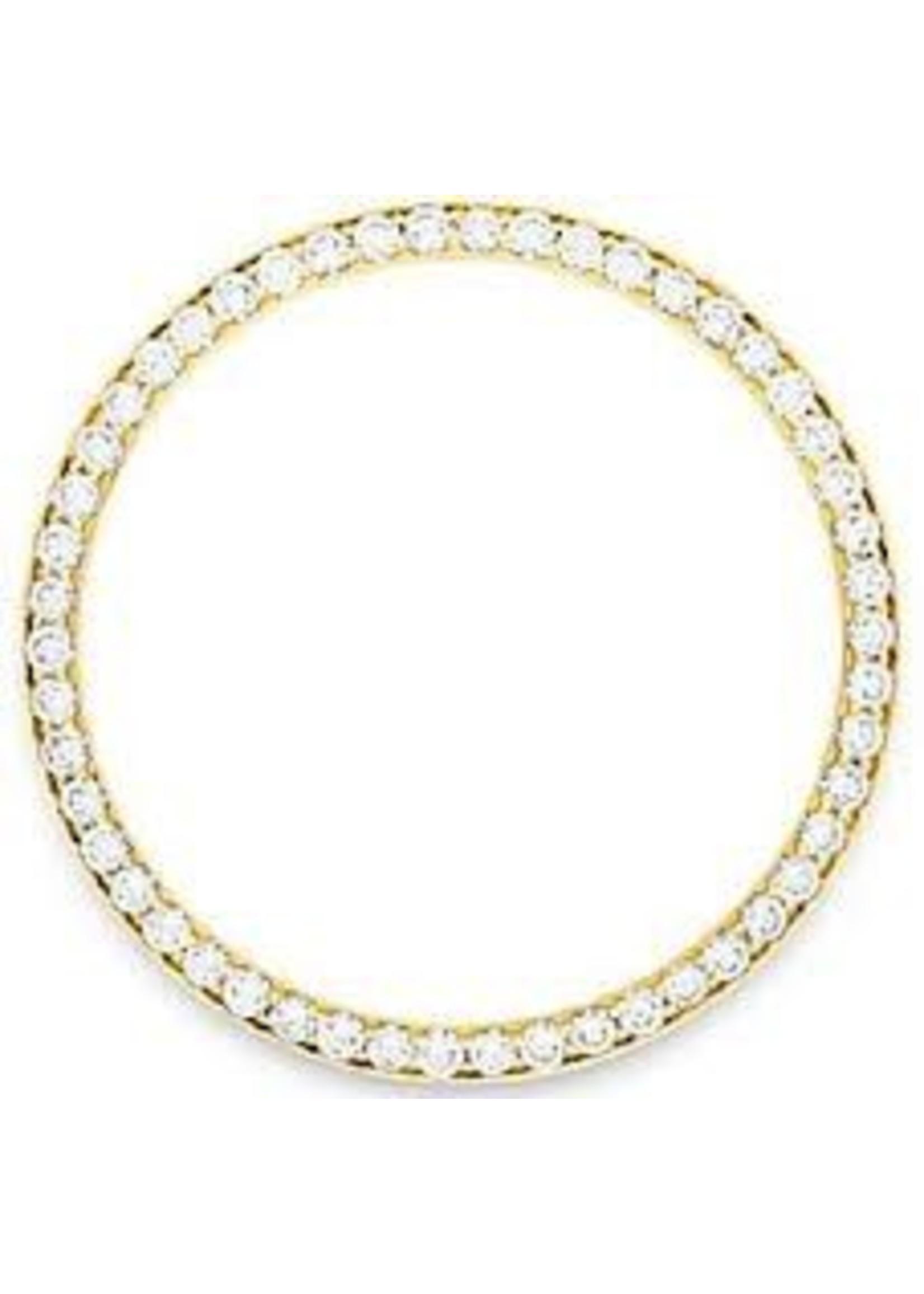 DIAMOND BEZEL ON YELLOW GOLD