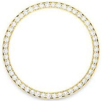 DIAMOND BEZEL ON YELLOW GOLD