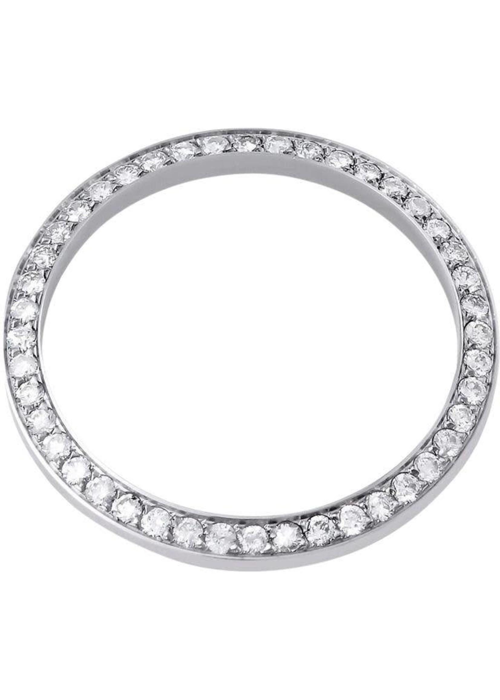 36MM DIAMOND BEZEL WHITE GOLD