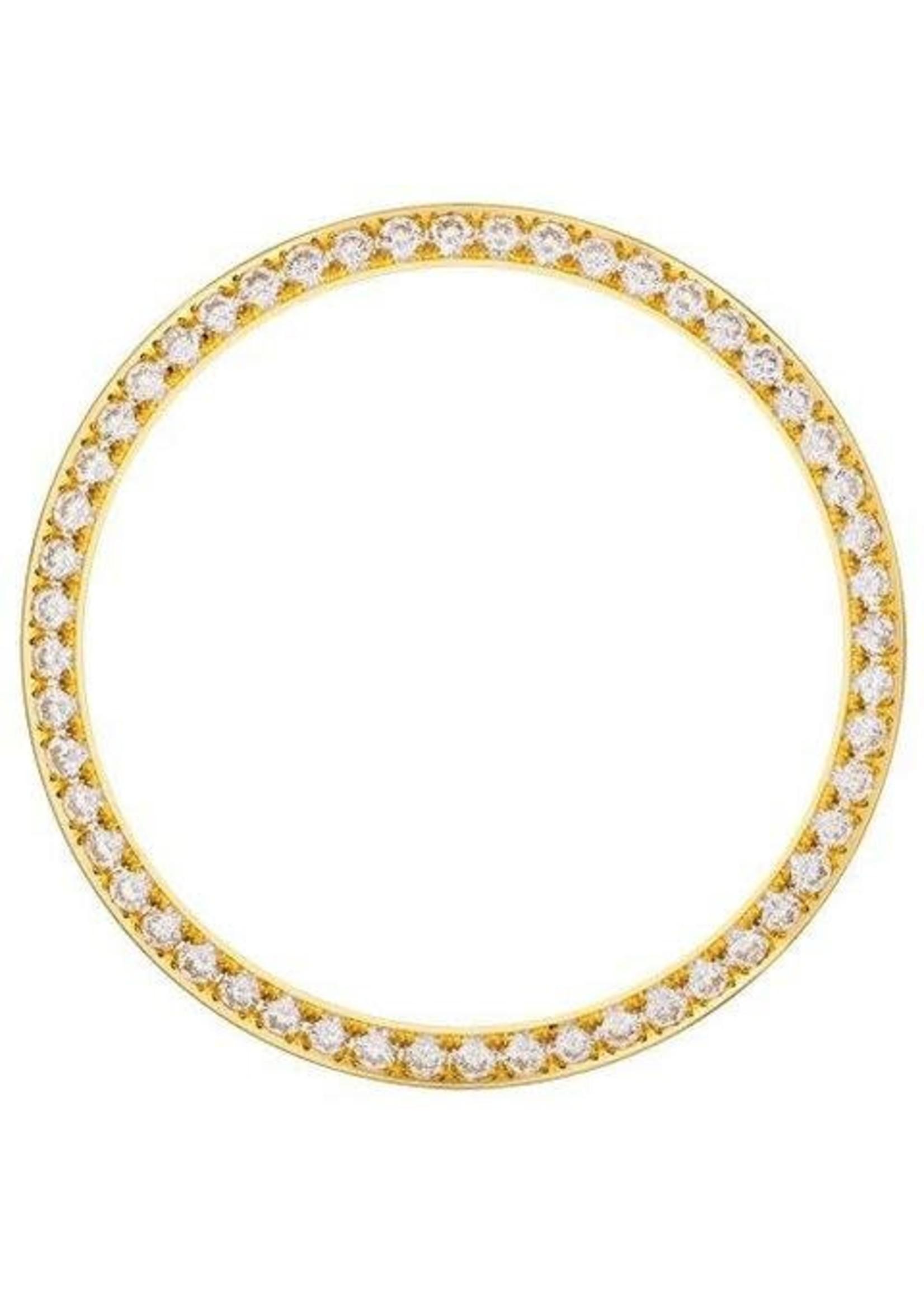 31MM DIAMOND BEZEL YELLOW GOLD