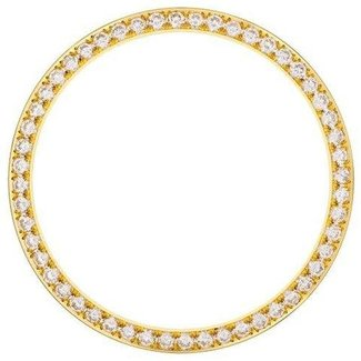 31MM DIAMOND BEZEL YELLOW GOLD