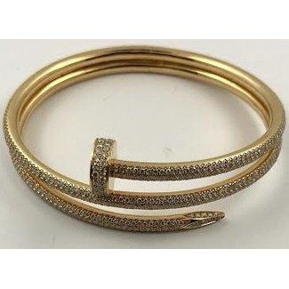 CUSTOM JUSTE EN CLOU BRACELET - ROSE GOLD WITH DIAMONDS