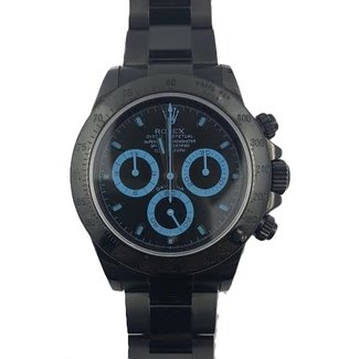 Rolex Rolex Cosmograph Daytona, Bespoke Black Dial with Blue Accents - Black DLC on Bracelet