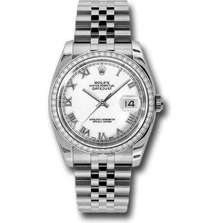 Rolex DATEJUST 36MM WHITE GOLD BEZEL DIAMOND DIAL