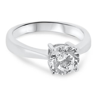 Jewellery ROUND BRILLIANT CUT DIAMOND RING 1.33CT I1 D (GS #104743)