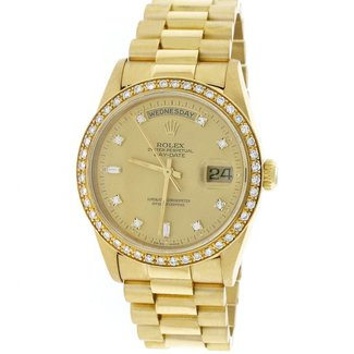 Rolex ROLEX DAY DATE 36MM (1989) #18238 AFTERMARKET DIAMOND BEZEL